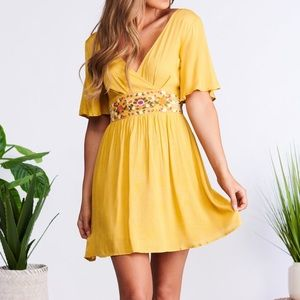 Island Girl Dress (Golden mustard)